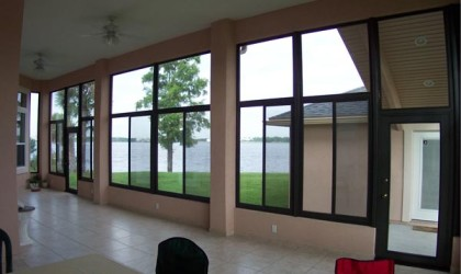 Glass Walls In Existing Lanai